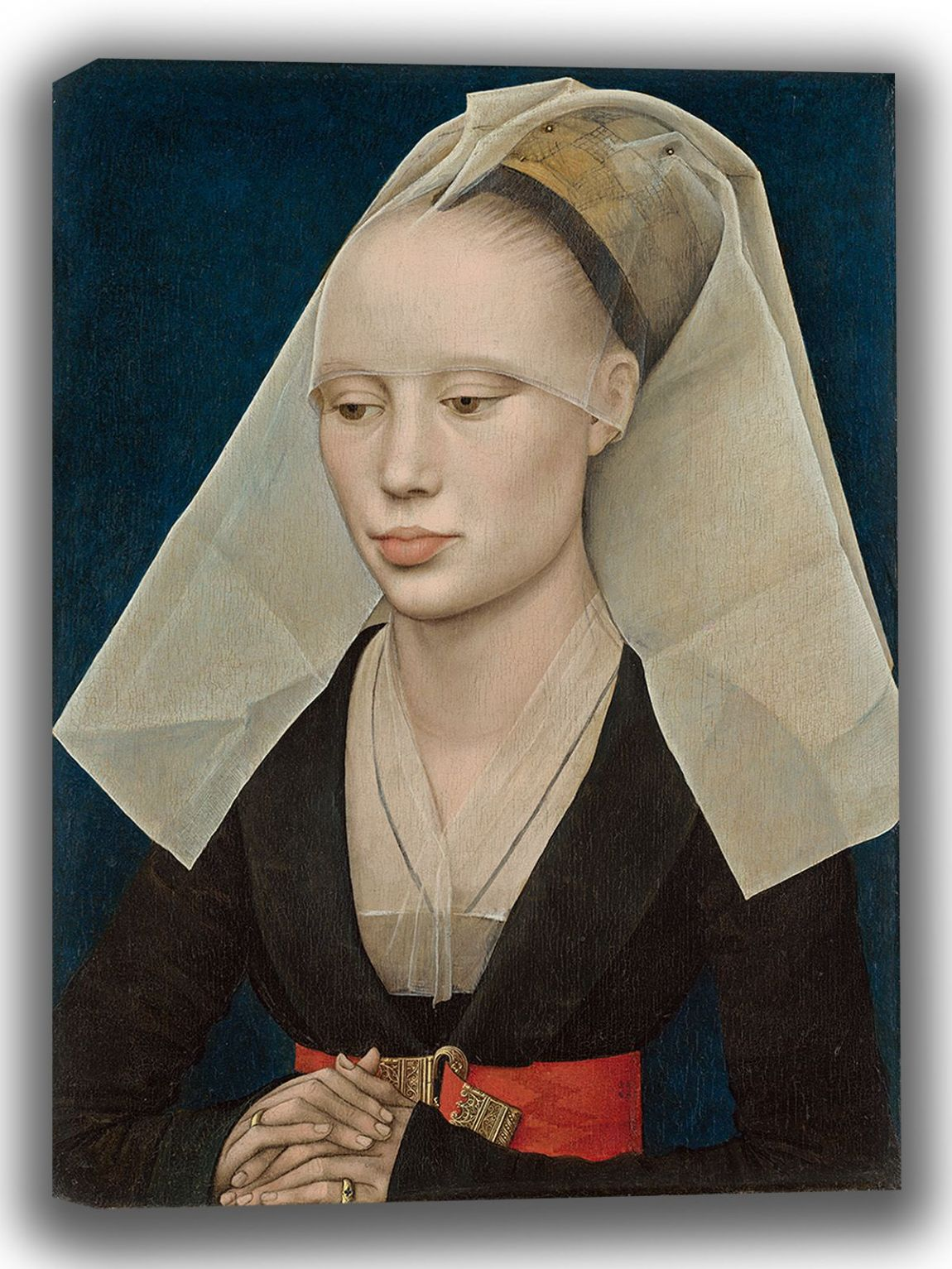 Weyden, Rogier van der: Portrait of a Lady. Fine Art Canvas. Sizes: A4/A3/A2/A1 (003946)